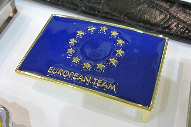 「ライダーカップ」で使用される、欧州チームのバックル
