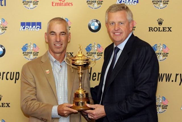 2010年 ライダーカップ 事前情報 コーリー・ペイビン&コリン・モンゴメリー 米国VS欧州の頂上対決!C.ペイビンとC.モンゴメリーの両チームキャプテンが意気込みを語った (Andrew Redington /Getty Images)