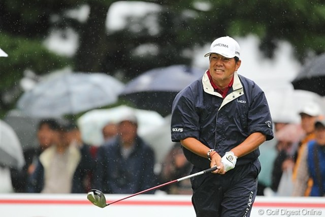 2010年 キヤノンオープン3日目 室田淳 今日は思うようにスコアを伸ばすことが出来なかった室田プロ。