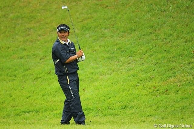 2010年 キヤノンオープン3日目 小田龍一 小田プロの打った後のチャメッケたっぶりのこの笑顔は?