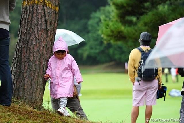 2010年 キヤノンオープン3日目 ギャラリーの子供 あたち、ゴルフ興味ないもーん!