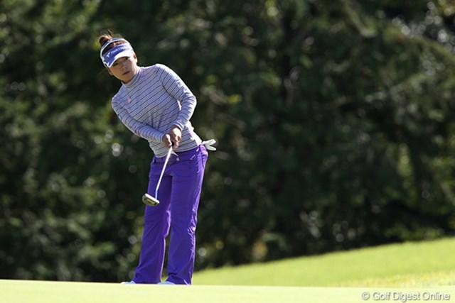 2010年 SANKYOレディースオープン最終日 有村智恵 3日間我慢のゴルフが続いた有村智恵