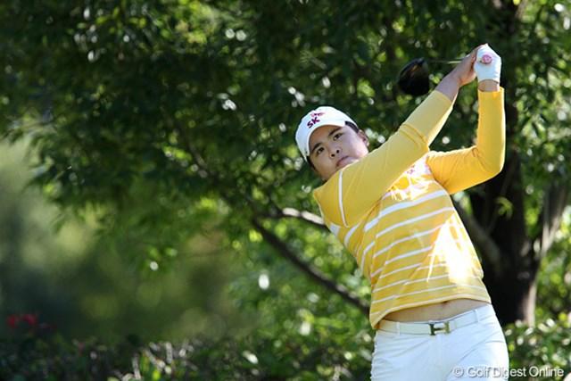 2010年 SANKYOレディースオープン最終日 朴仁妃 プレーオフでは敗れてしまったけれど2位の成績です。