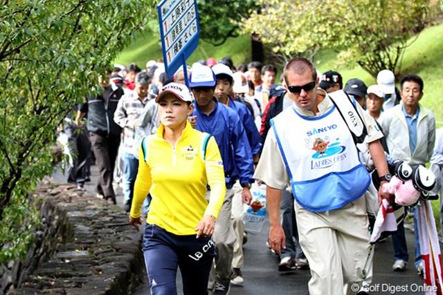 2010年 SANKYOレディースオープン最終日 横峯さくら 群馬でも大人気のさくらちゃん。