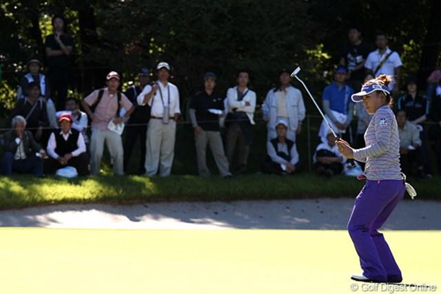 2010年 SANKYOレディースオープン最終日 有村智恵 3アンダー、7位タイフィニッシュの智恵ちゃん、来週もよろしくです。