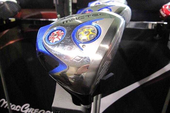 丸型タイプのヘッド「マックテック ドライバー DS101」。スイートエリアが広く、飛距離重視のドライバーだ 幅広いユーザーへアプローチ!生まれ変わったマックテック NO.2