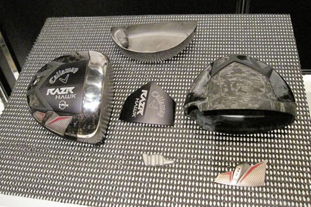 キャロウェイ、新ブランド「レイザー」を発表 NO.7 「レイザー ホーク ドライバー」のヘッドパーツ。最適な重量設計で無駄なスピン量を軽減させる