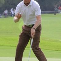 チップ ゼッコウチョウ デ~ス!ノー ボギー デ~ス!単独3位です。 2010年 日本オープンゴルフ選手権競技 初日 クリス・キャンベル