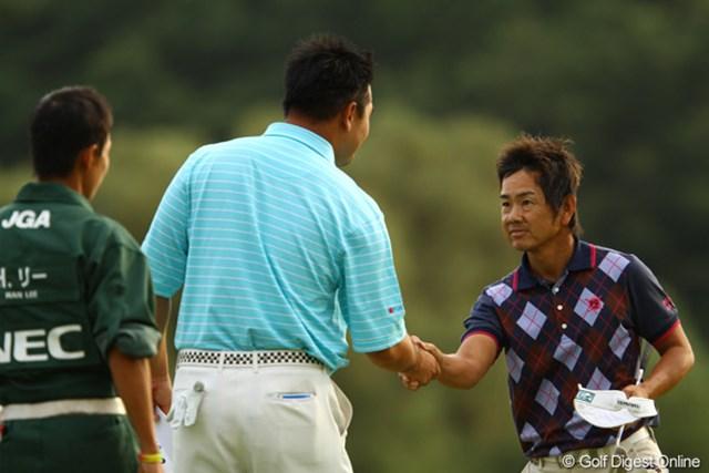 2010年 日本オープンゴルフ選手権競技 3日目 藤田寛之 耐えるゴルフで1つスコアを伸ばした藤田寛之が単独首位となった