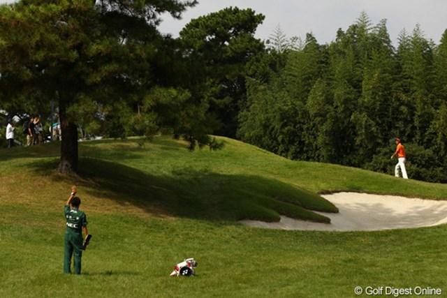 2010年 日本オープンゴルフ選手権競技 3日目 石川遼 「僕は山を登って、自分でピンを確認しますよ。加藤く~ん、ボールどこ~?」