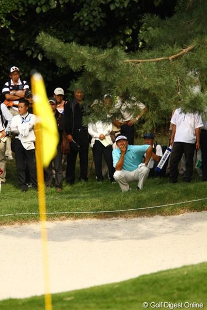 2010年 日本オープンゴルフ選手権競技 3日目 ハン・リー 「どうやって打つのよ。」