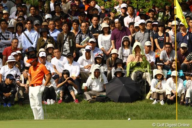 2010年 日本オープンゴルフ選手権競技 3日目 石川遼 アプローチも寄らないし・・・。