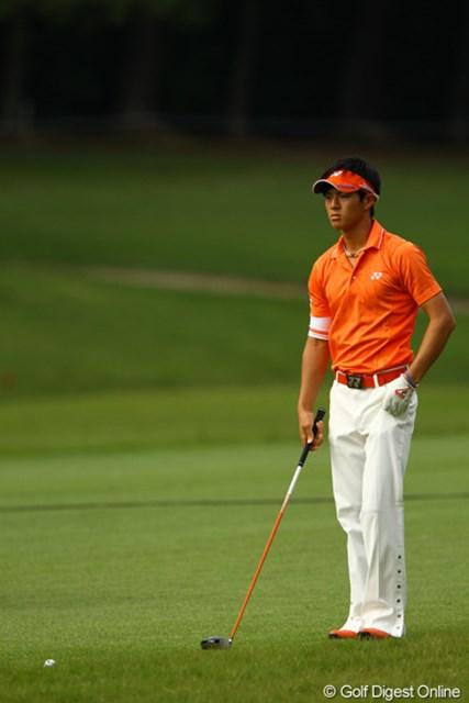2010年 日本オープンゴルフ選手権競技 3日目 石川遼 こんな日は思い切って直ドラだね。