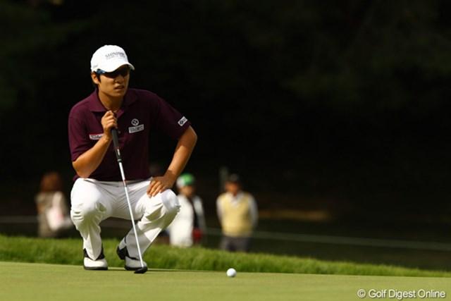 2010年 日本オープンゴルフ選手権競技 最終日 キム・キョンテ コースレコードの7アンダーをマークして逆転優勝を果たしたキム・キョンテ
