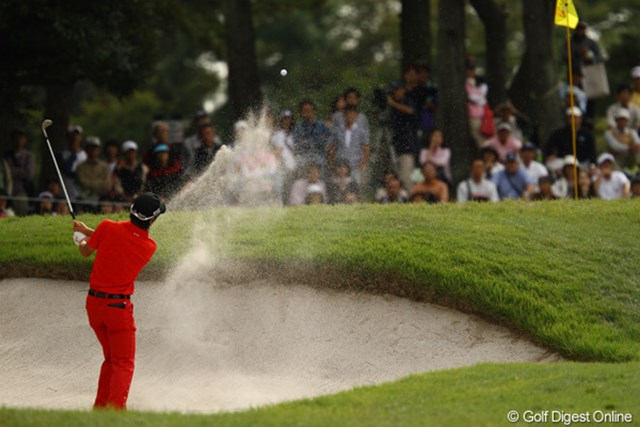 2010年 日本オープンゴルフ選手権競技 最終日 石川遼 今日はショットがイマイチ・・・。前半でスコアが伸ばせずに、焦りが出てしまったようです。
