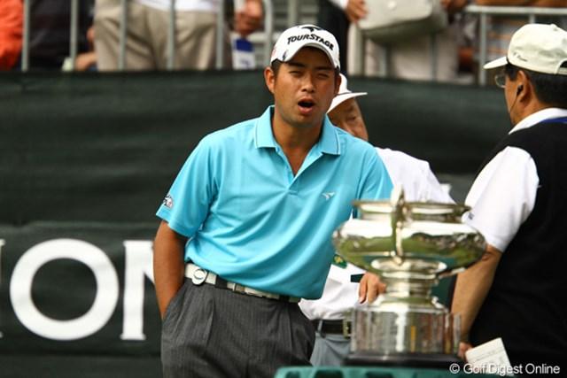2010年 日本オープンゴルフ選手権競技 最終日 池田勇太 「俺もあのデカイ優勝カップ欲しいなぁ。」