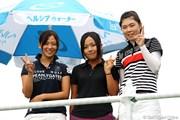 2010年 富士通レディース 最終日 (左から)森美穂・青木瀬令奈・高橋恵