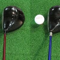 オノフドライバー type-D(写真:左)と、type-S(写真:右)の構えたところ。同じ体積でもtype-Sのがひきしまってみえる グローブライドが「オノフ」新製品を発表 NO.5