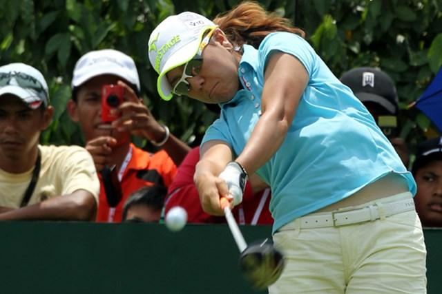 2010年 サイム・ダービーLPGAマレーシア 2日目 宮里美香 首位に2打差、最終日の優勝争いが出来る位置をキープした宮里美香(Stanley Chou/Getty Images)