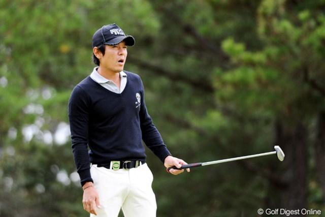 2010年 マイナビABCチャンピオンシップゴルフトーナメント 2日目 矢野東 こんな表情ですけど、スコアしっかり3つ伸ばして、妥当コリアの1番手の2位Tに浮上!祈・復活。