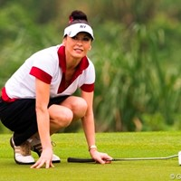 仕事が忙しくてゴルフは1年半ぶりというキャサリン・ゼタ・ジョーンズ 2010年 ミッションヒルズ スタートロフィー キャサリン・ゼタ・ジョーンズ