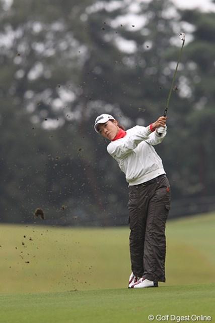 2010年 樋口久子IDC大塚家具レディス 初日 大山志保 「ショットを修正して明日はまた違ったゴルフができると思います。」明日に期待してますよ志保ちゃん。
