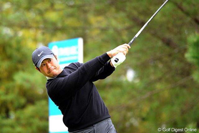 2010年 マイナビABCチャンピオンシップゴルフトーナメント 3日目 原口鉄也 ノーボギーで5バーディを奪い3位タイに浮上した原口鉄也