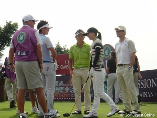 2010年 スタートロフィー 3日目 (左から)ダニー・リー、今田竜二、加藤あい、クリスチャン・スレーター セレブリティーとプロゴルファーの豪華な競演。左からダニー・リー、今田竜二、加藤あい、クリスチャン・スレーター
