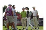 2010年 スタートロフィー 3日目 (左から)ダニー・リー、今田竜二、加藤あい、クリスチャン・スレーター