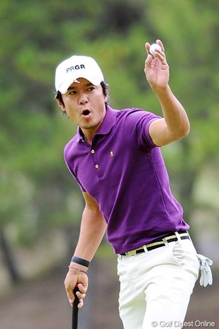 2010年 マイナビABCチャンピオンシップゴルフトーナメント 最終日 矢野東 途中までは優勝の大本命やったんで、アズマックス優勝の折にはこの写真使おうと思てたんですけど・・・。8位T