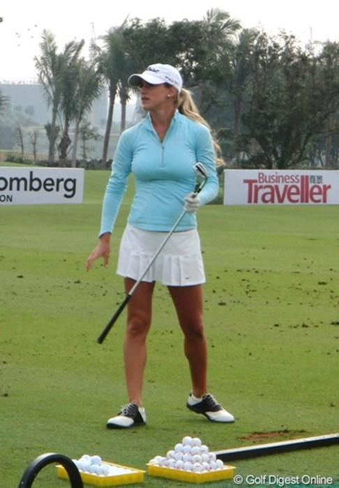 数々のアマチュア大会で優勝し、今年の全米女子オープンでプロデビューを果たしたベレン・モゾ 2010年 スタートロフィー 最終日 ベレン・モゾ