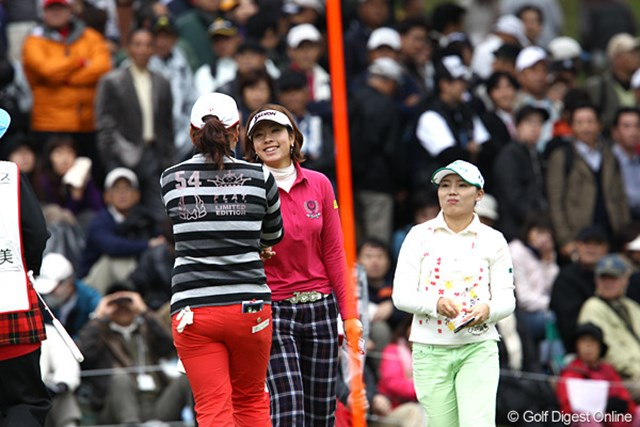2010年 樋口久子IDC大塚家具レディス 最終日 森田理香子 18ホール最小ストロークの「62」で回り見事初優勝のモリコ。