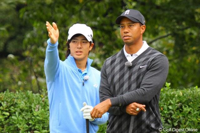 タイガー・ウッズ×石川遼~everyone meets the dream~ 石川遼、タイガー・ウッズ 夢のテレビマッチが実現した、タイガー・ウッズと石川遼