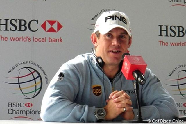 2010年 WGC HSBCチャンピオンズ 事前 リー・ウェストウッド 「プレッシャーは感じていない」と余裕のリー・ウェストウッド