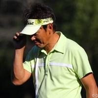 昨日10度で半袖ですから、もちろん今日も半袖で5位タイにつけています 2010年 富士フイルムシニアチャンピオンシップ 2日目 高松厚