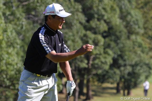 5バーディ、4ボギーと出入りの激しいゴルフとなった飯合肇