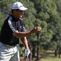 5バーディ、4ボギーと出入りの激しいゴルフとなった飯合肇 2010年 富士フイルムシニアチャンピオンシップ 2日目 飯合肇