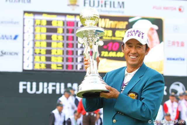 2010年 富士フイルムシニアチャンピオンシップ 最終日 芹澤信雄 ルーキーとしてシニアツアー初勝利を挙げた芹澤信雄