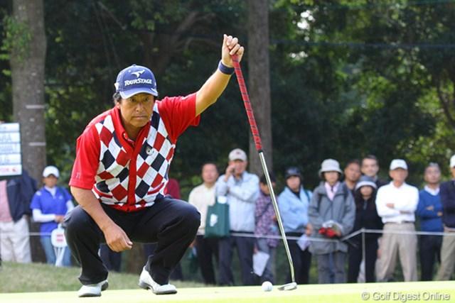 2010年 富士フイルムシニアチャンピオンシップ 最終日 湯原信光 7アンダー2位タイで迎えた最終18番、ダブルボギーはもったいなかったです