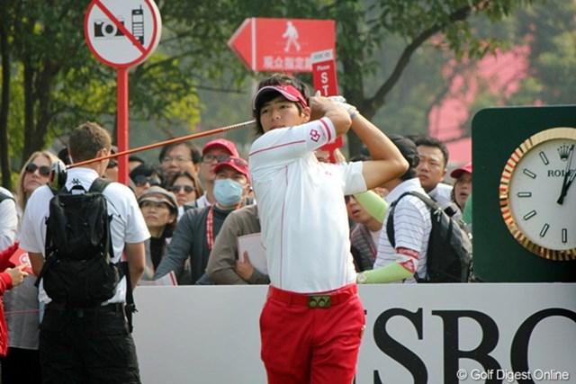 2010年 WGC HSBCチャンピオンズ 最終日 石川遼 タイガー・ウッズのスイングからヒントを受け前半は好調だった石川遼