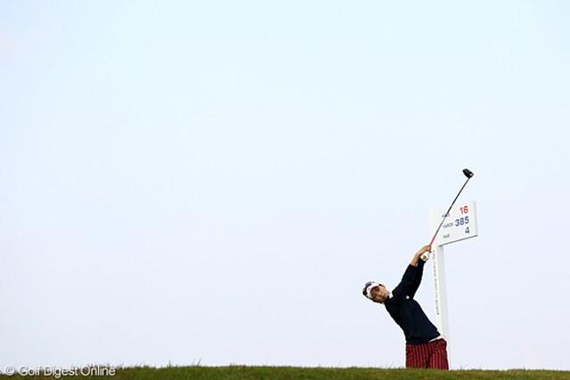 2010年 伊藤園レディスゴルフトーナメント 初日 上田桃子 曇りのち晴れ。今日の天気です。