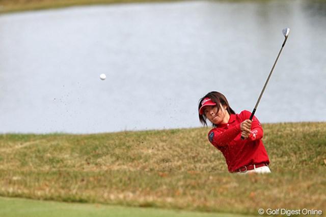 2010年 伊藤園レディスゴルフトーナメント 初日 不動裕理 22位タイで初日フィニッシュです。