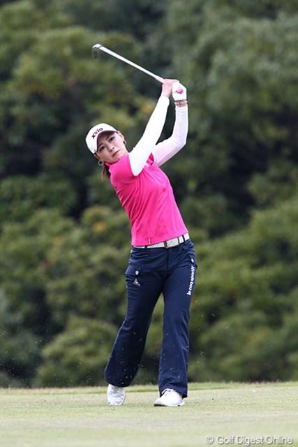 2010年 伊藤園レディスゴルフトーナメント 最終日 横峯さくら スコアを1つ伸ばしたが、アンに賞金差を広げられてしまった横峯さくら