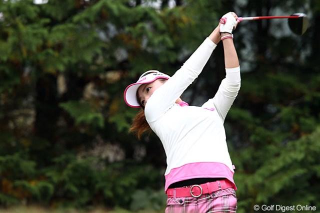 2010年 伊藤園レディスゴルフトーナメント 最終日 有村智恵 良かったときのスイングを試すことができたという有村智恵