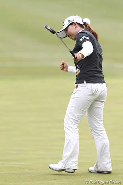 最後まで攻めのゴルフに徹して3位となった韓国のイ・ナリ