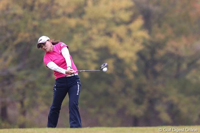 2010年 伊藤園レディスゴルフトーナメント 最終日 横峯さくら 攻めのゴルフでもノーチャンスでした。