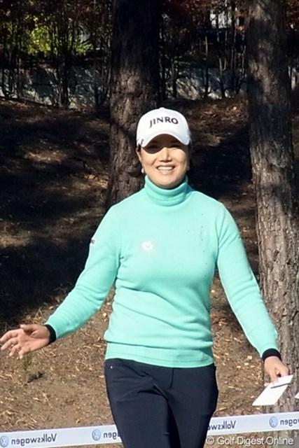 2010年 LPGAツアーチャンピオンシップリコーカップ 全美貞 06年から毎年複数回優勝を続ける全美貞。今季も3勝と安定感抜群です(撮影:リコー CX4)