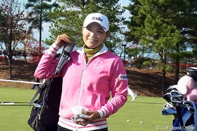 2010年 LPGAツアーチャンピオンシップリコーカップ 横峯さくら 2年連続賞金女王を目指す横峯さくら。大逆転のミラクルは・・?(撮影:リコー CX4)