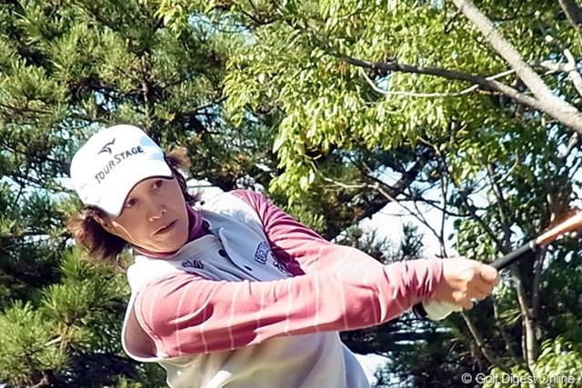 2010年 LPGAツアーチャンピオンシップリコーカップ 鬼澤信子 ニトリレディスで40歳でのレギュラーツアー初優勝が光る鬼澤信子!(撮影:リコー CX4)
