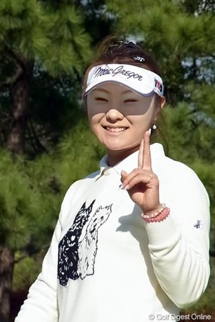 2010年 LPGAツアーチャンピオンシップリコーカップ 藤田幸希 笑顔が素敵なメジャーチャンピオン!藤田幸希(撮影:リコー CX4)